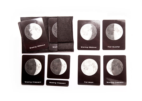 Moon phases, large 3-part cards