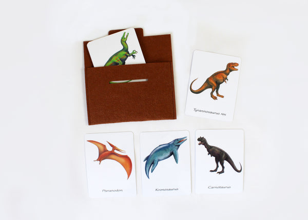 12 Carnivorous dinosaurs, flashcards