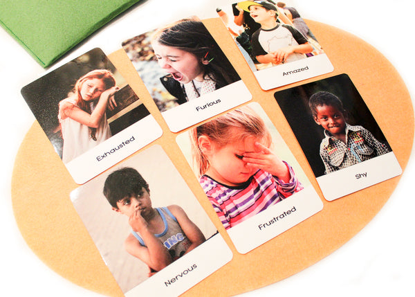 Montessori flashcards, 24 Emotions