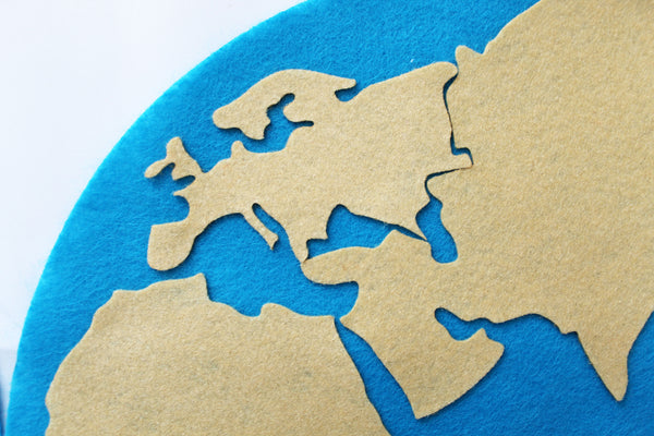 Montessori hemisphere world map, Montessori Learning materials