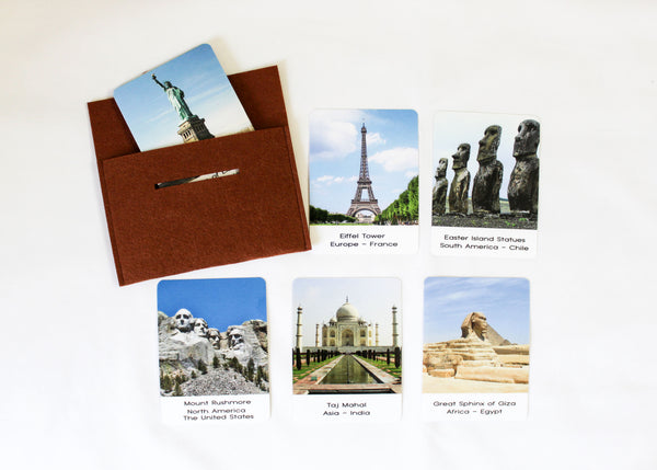 Landmarks, Montessori flashcards, Safari Toobs