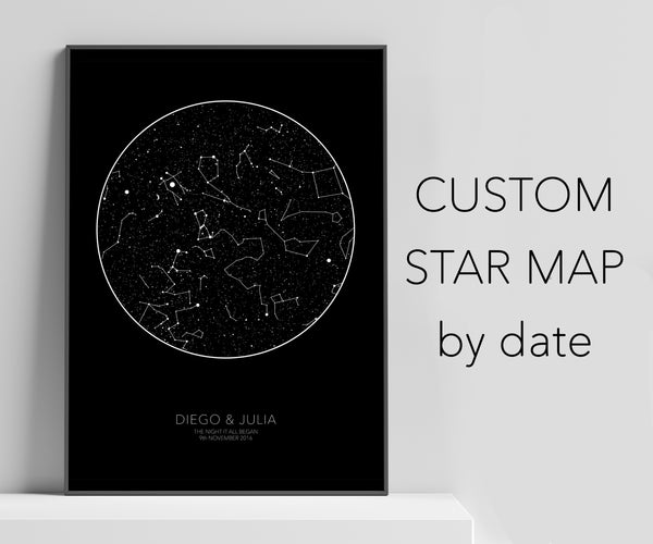 Personalized black star chart