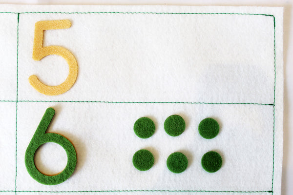 Number matching game, learning to count, Montessori math