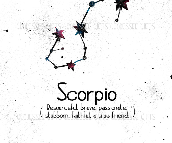 SCORPIO Constellation print