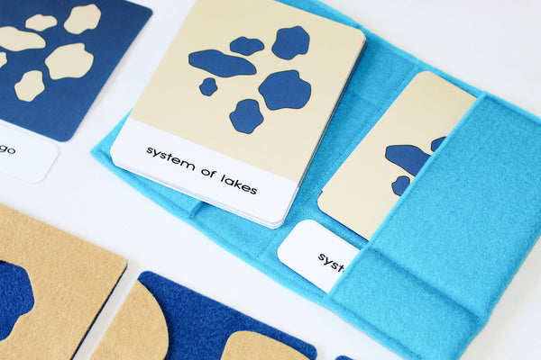 Land and water forms felt boards with 3-part cards