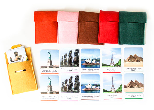 40 Landmarks of the world 3-part cards