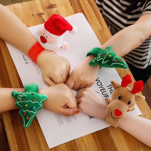 Christmas Slap Bracelets Wristband Decorations 3PCS