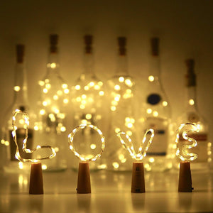 Cork String Wine Bottle Lights---6.56 FEET/20 LED