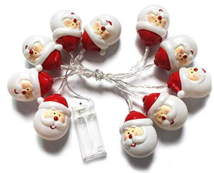 Santa Claus Shaped String Light for Festival Christmas Decoration