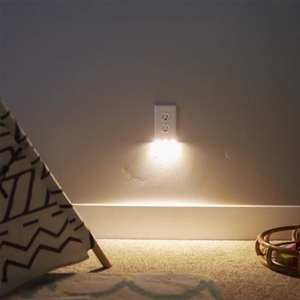 Outlet Wall Plate With LED Night Lights-No Batteries Or Wires-Warm Light-UL FCC CSA Certified