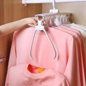 8 in 1 Adjustable Foldable Clothes Hangers---Space Saving A Half