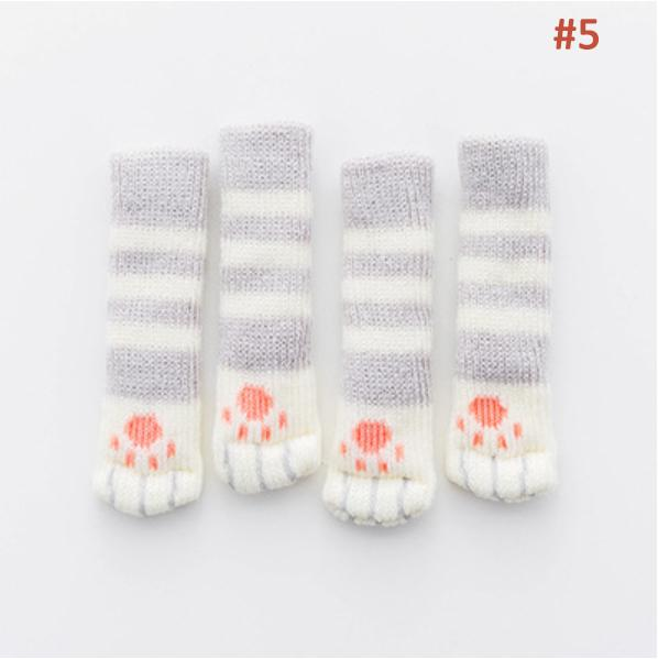 Fancy Table Leg Pads with Cute Cat Paws Design (1 Set)
