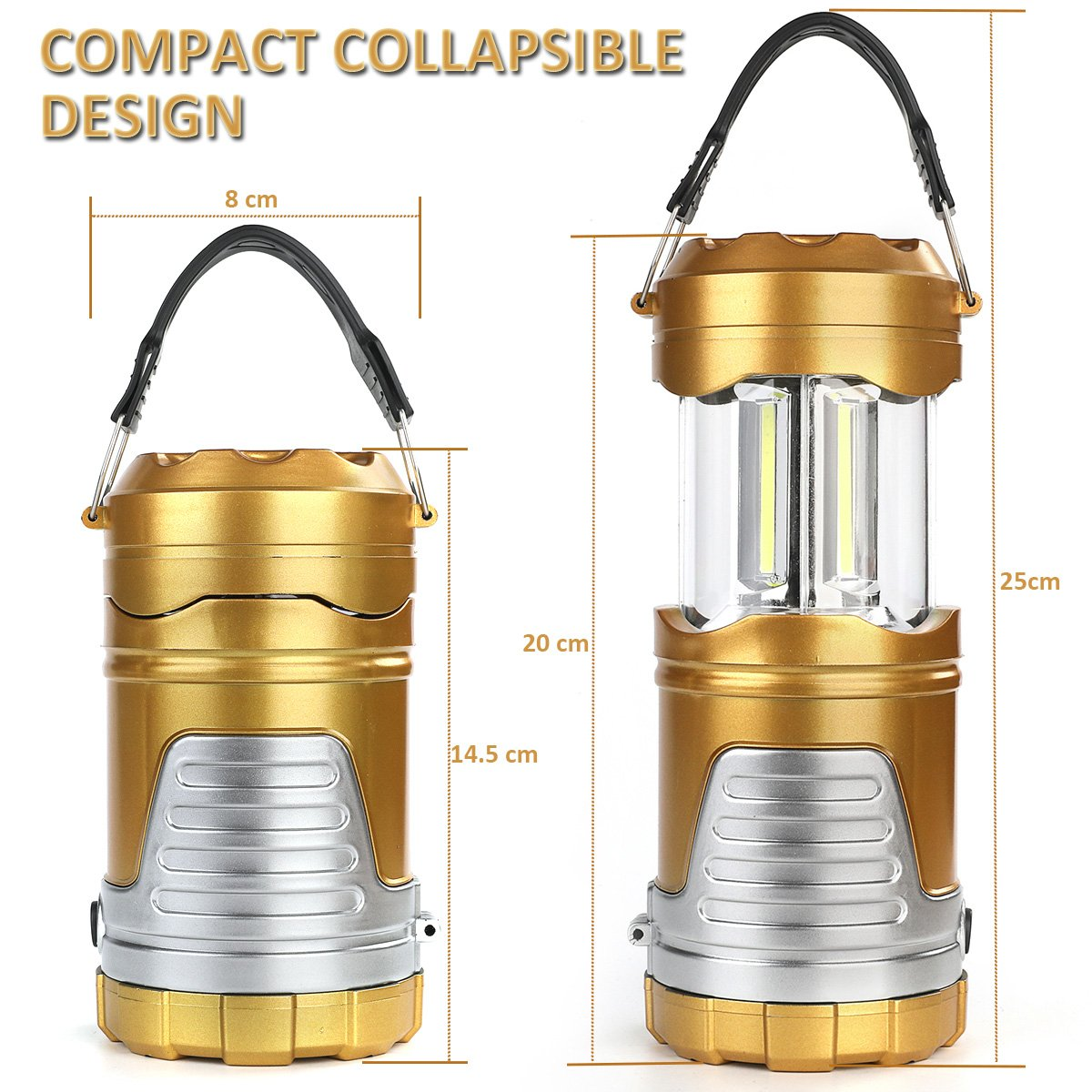 【60% OFF TODAY!!!】Copy of Camp Lantern COB Lights - Changing Flame Light & White Light
