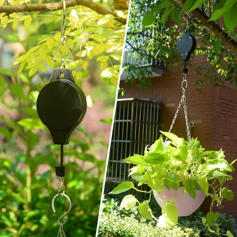 🎁 Retractable Pulley Flower Plant Hanging Basket Pull Down Hanger