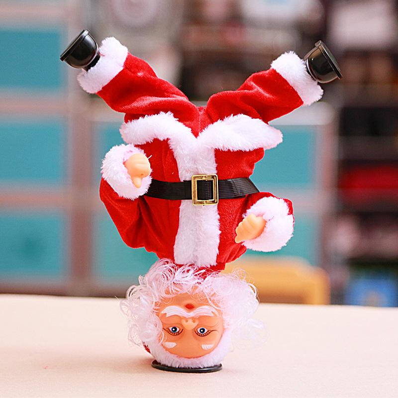 Handstand Dancing Santa Claus Electric Decoration