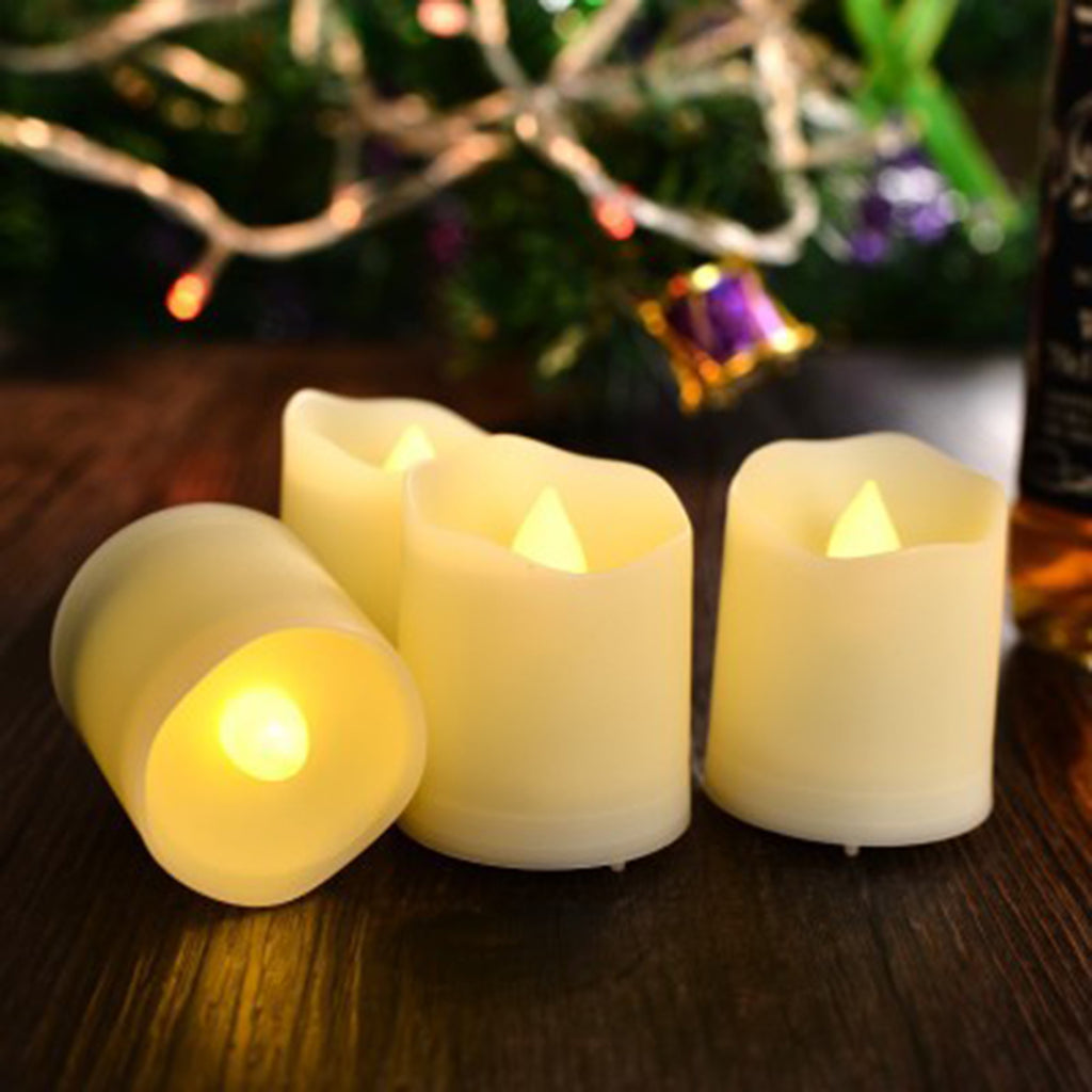 Artificial Flickering Flameless LED Tea Light Candles - Warm White Light