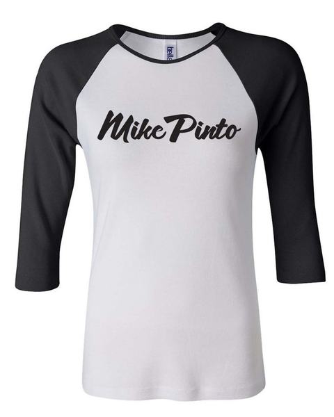 Womens' Baseball Shirt (White and Black) ON SALE!!