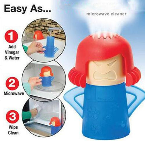 Angry Mama Microwave Cleaner With Vinegar and Water
