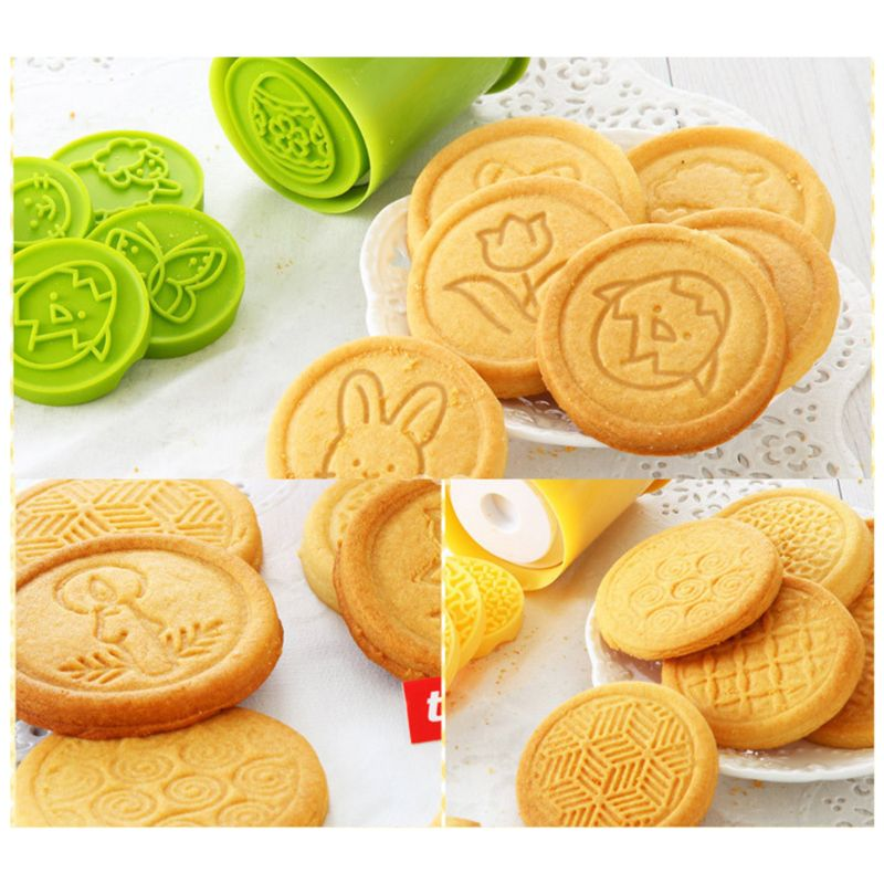 Cartoon Easter Cookies Stamps - 6 Pcs