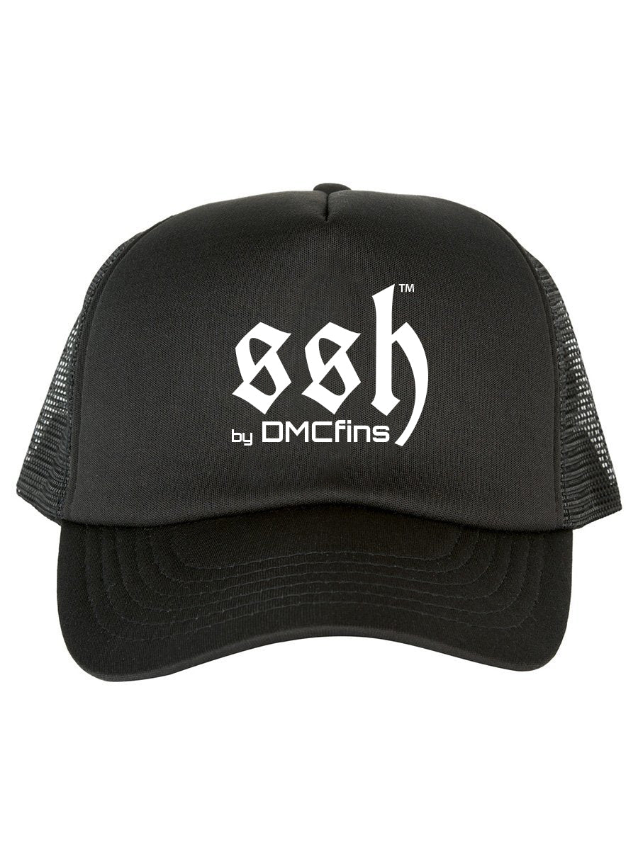 Embroidered SSH Trucker Cap Black