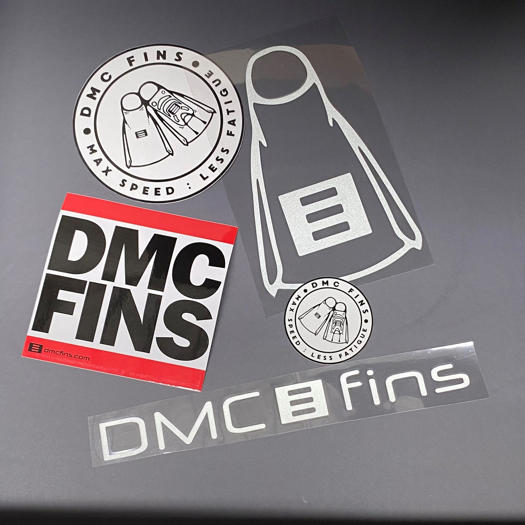 DMC Fins sticker set 5 pc