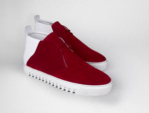 Womens Chukka Trainer in Moscow Red Suede