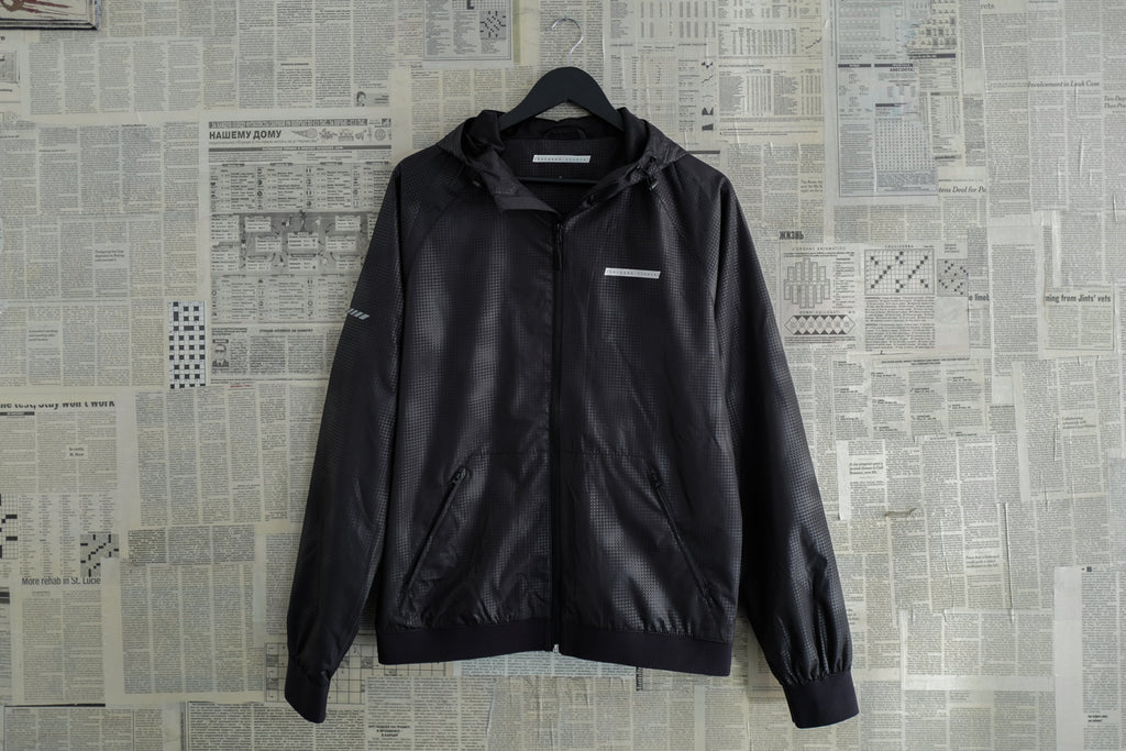 Windbreaker jacket in black