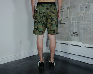 Between Rivers Camo Print shorts
