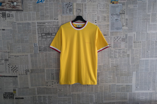 Two tone collar T-shirt in Yellow