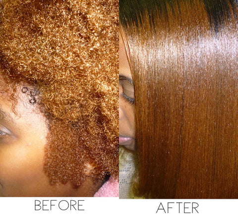 Before and After using Earth Silk Glosifyer