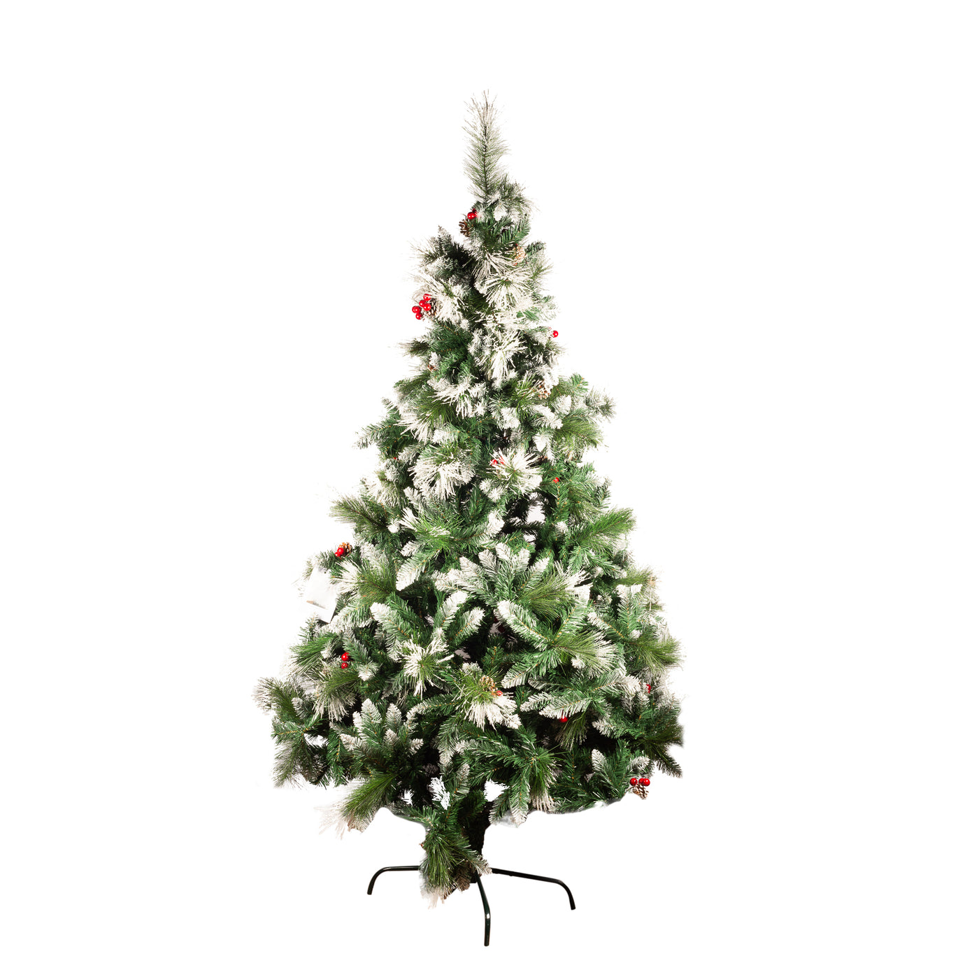 Christmas Tree witH Snow Tips & Berries - 3m
