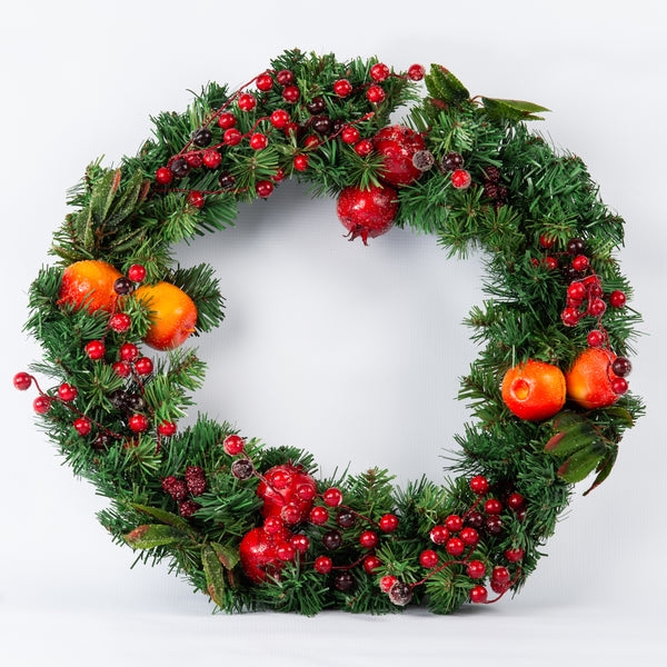 Peach and Pomegranate Wreath - 60cm