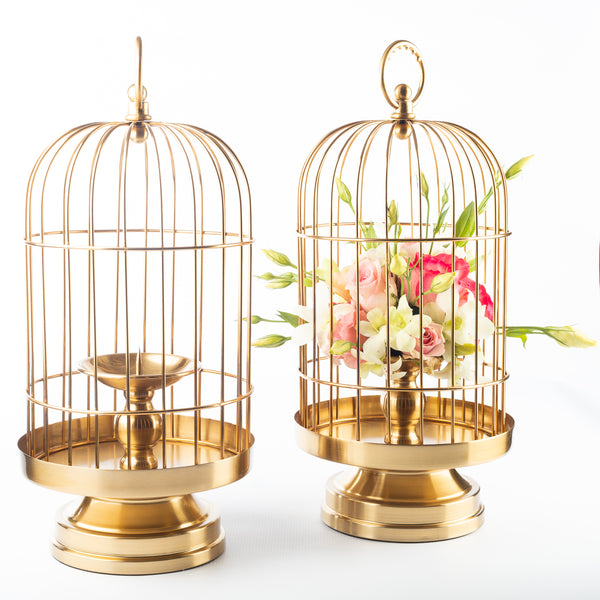 Wide Bird Cage Candle Holder