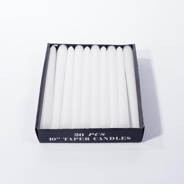 Candle Taper white - 12's - 25cm