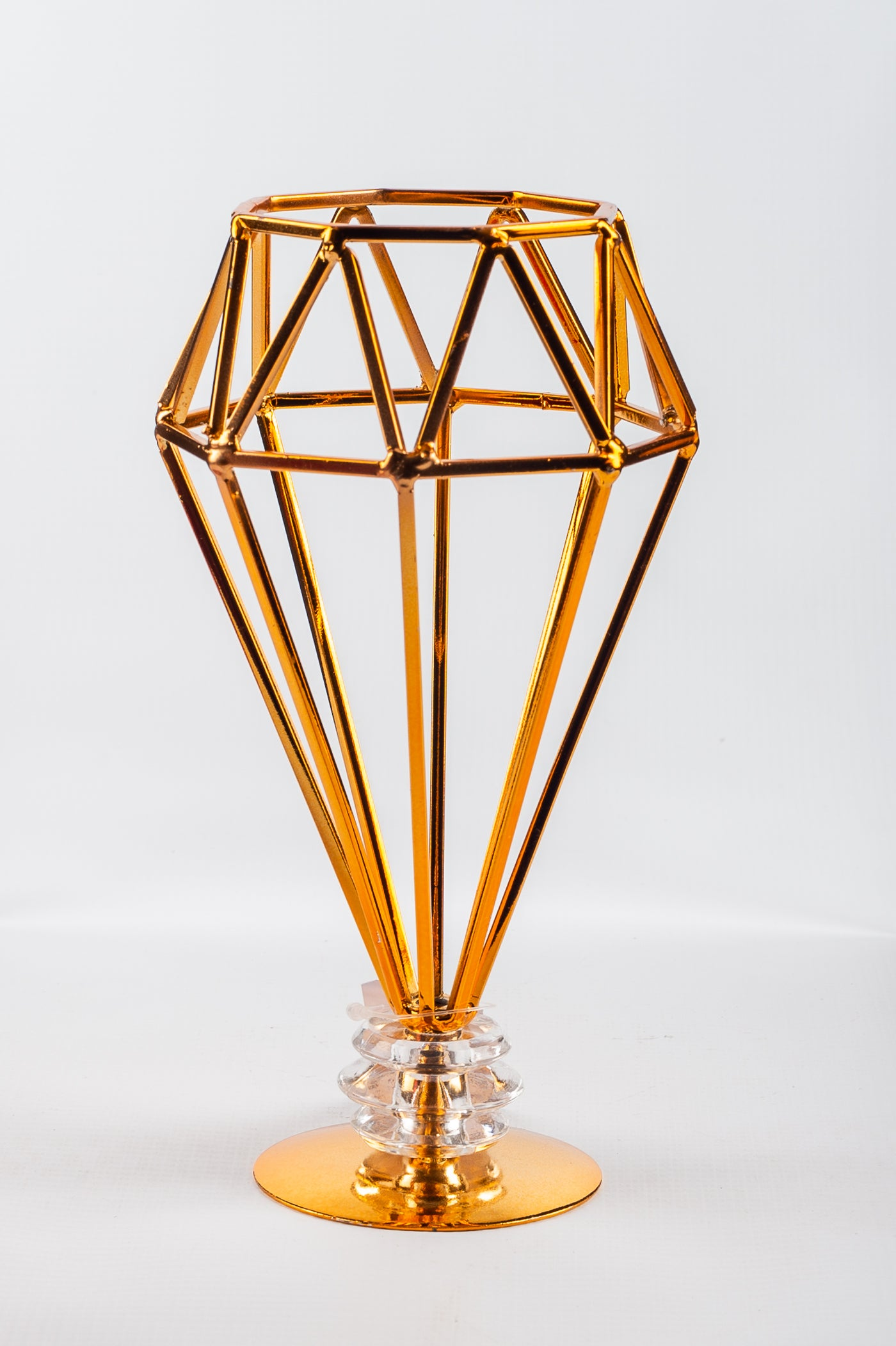 Diamond Geometric 9.5x18x6.8cm Gold