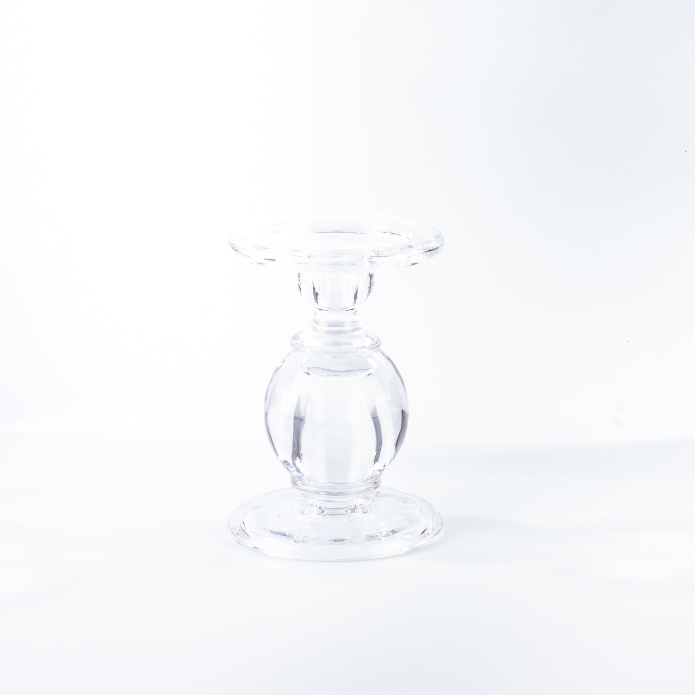 Glass Candle Holder with Ball