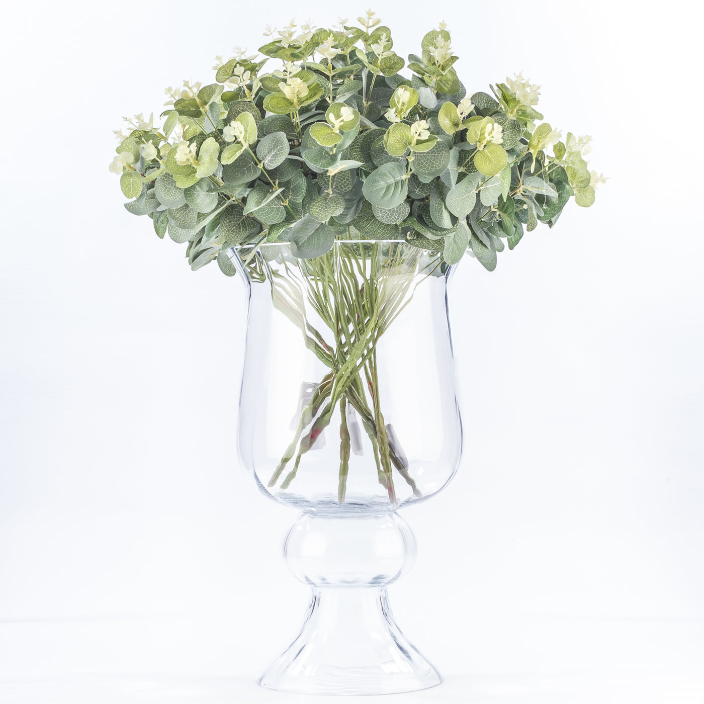 Footed Hurricane Vase - 42cm