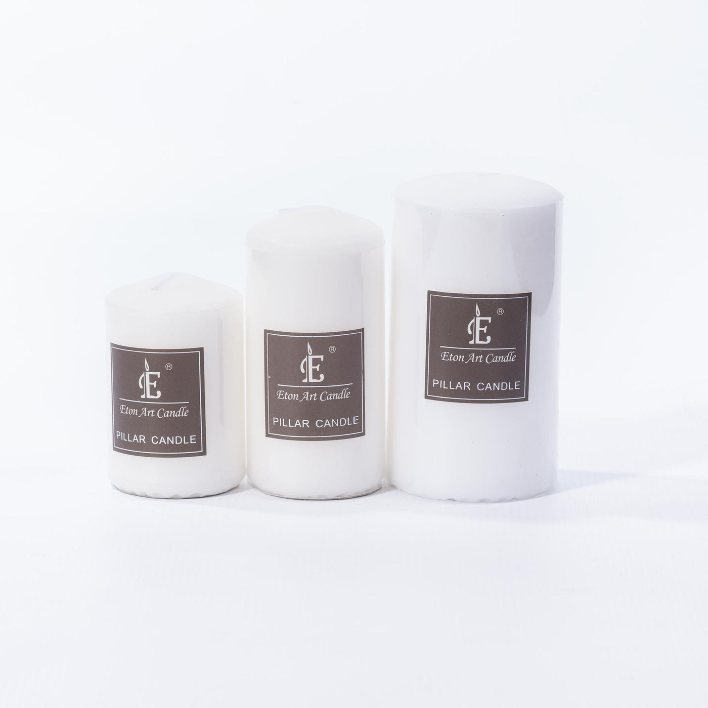 White Pillar Candle - 14cm x 7cm