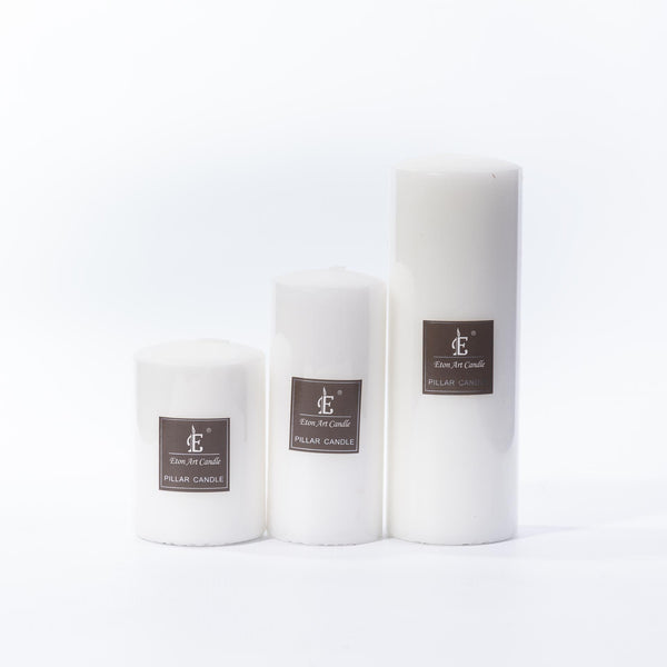 White Pillar Candle - 13cm x 5.5cm
