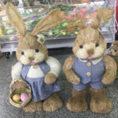 (B-164-1) EASTER GRASS BUNNY BLUE SMALL EACH