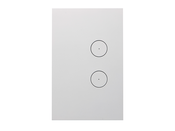 Clipsal Saturn Zen Light Switch - 2 Gang