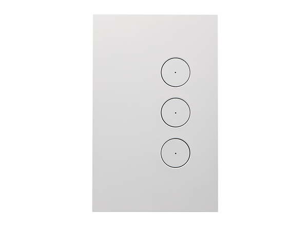 Clipsal Saturn Zen Light Switch - 3 Gang