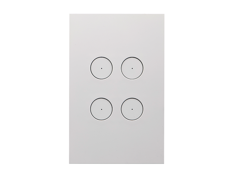 Clipsal Saturn Zen Light Switch - 4 Gang