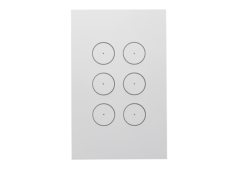 Clipsal Saturn Zen Light Switch - 6 Gang
