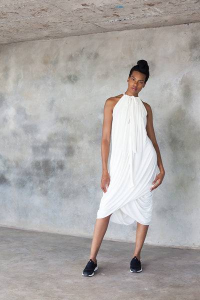 White multi-way dress