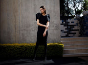 ERRE Black silhouette dress