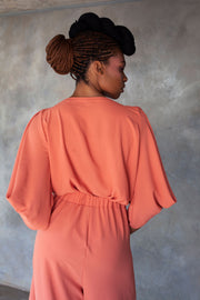 ERRE coral power sleeve blouse