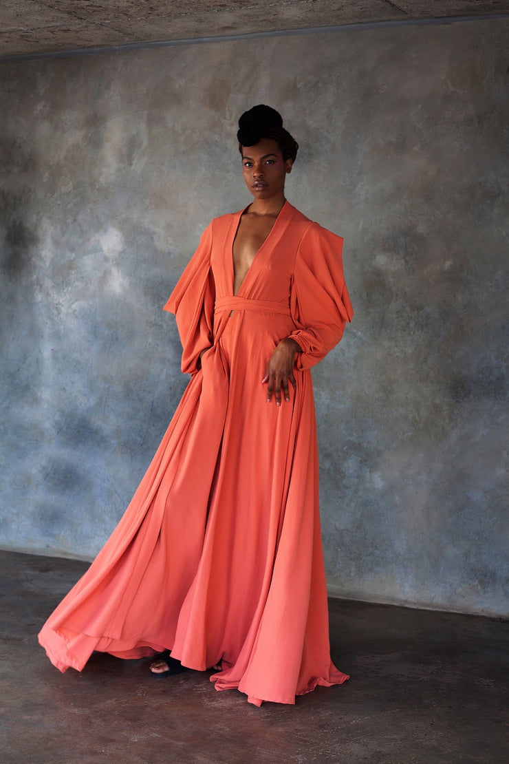 ERRE coral full length cover-up