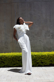 ERRE STROLL wide leg pants in ivory