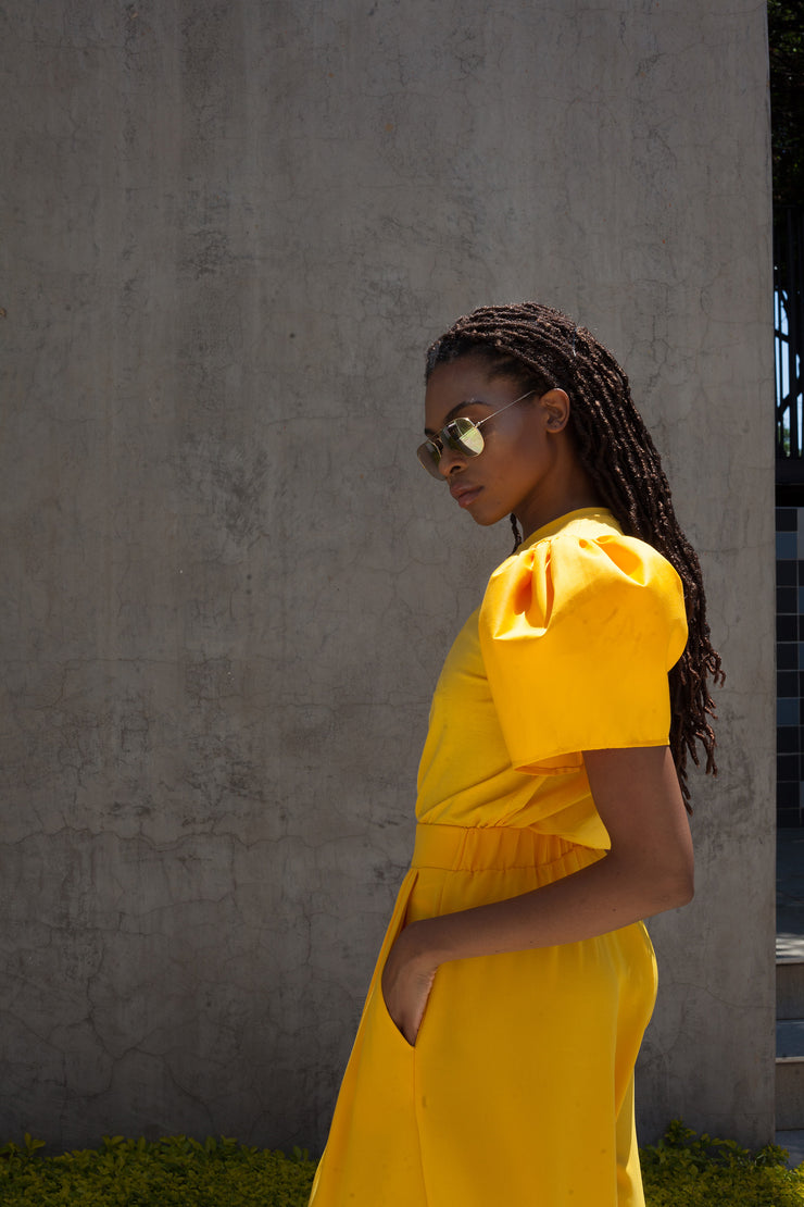 ERRE SILOUETTE t-shirt in yellow